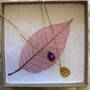 Satya amethyst and gold necklace